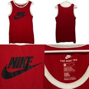 Nike Red Tank Top Shirt Men's Size Small Big Logo